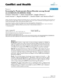 """Báo cáo y học: """"Screening for Posttraumatic Stress Disorder among Somali ex-combatants: A validation study"""""""