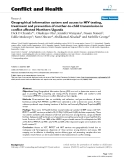 """Báo cáo y học: """"Geographical information system and access to HIV testing, treatment and prevention of mother-to-child transmission in conflict affected Northern Uganda"""""""