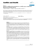 """Báo cáo y học: """"Delays in childhood immunization in a conflict area: a study from Sierra Leone during civil war"""""""