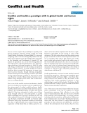 """Báo cáo y học: """"Conflict and health: a paradigm shift in global health and human rights"""""""
