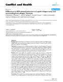 "Báo cáo y học: ""Differences in HIV-related behaviors at Lugufu refugee camp and surrounding host villages, Tanzania"""