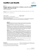 """Báo cáo y học: """"Patients' opinion on the barriers to diabetes control in areas of conflicts: The Iraqi example"""""""