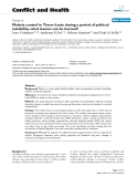 "Báo cáo y học: ""Malaria control in Timor-Leste during a period of political instability: what lessons can be learned"""