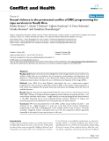 Báo cáo y học: Sexual violence in the protracted conflict of DRC programming for rape survivors in South Kivu