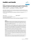 """Báo cáo y học: """"Impact of the Kenya post-election crisis on clinic attendance and medication adherence for HIV-infected children in western Kenya"""""""