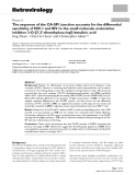 """Báo cáo y học: """" The sequence of the CA-SP1 junction accounts for the differential sensitivity of HIV-1 and SIV to the small molecule maturation inhibitor 3-O-{3',3'-"""""""
