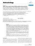"Báo cáo y học: ""HIV-1 Tat protein enhances Microtubule polymerization"""
