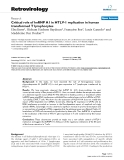 """Báo cáo y học: """"Critical role of hnRNP A1 in HTLV-1 replication in human transformed T lymphocytes"""""""