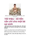 102 triệu - số tiền cần chi cho một bé sơ sinh