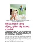 Thiếu sự quan tâm của cha mẹ là nguyên nhân khiến trẻ bị tăng động. (Ảnh