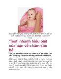 'Test' nhanh hiểu biết của bạn về chăm sóc bé