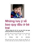 Những lưu ý về bao quy đầu ở bé trai