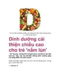 Dinh dưỡng cải thiện chiều cao cho trẻ 'nấm lùn'