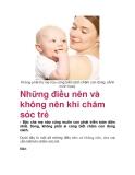 Những điều nên và không nên khi chăm sóc trẻ
