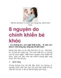 8 nguyên do chính khiến bé khóc