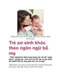 Trẻ sơ sinh khóc theo ngôn ngữ bố mẹ