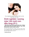 Kinh nghiệm 'xương máu' khi nuôi con đầu lòng (P.1)