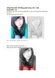 Tạo ảnh vẽ bằng photoshop