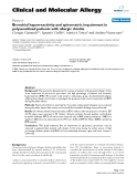 """Báo cáo y học: """"Bronchial hyperreactivity and spirometric impairment in polysensitized patients with allergic rhinitis"""""""
