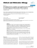 """Báo cáo y học: """"Circulating immune complexes and complement C3 and C4 levels in a selected group of patients with rhinitis in Lebanon"""""""