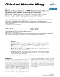 "Báo cáo y học: ""Effects of dexamethasone on TNF-alpha-induced release of cytokines from purified human blood eosinophils"""