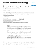 """Báo cáo y học: """"Specific antibodies to recombinant allergens of ABPA"""""""