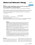 """Báo cáo y học: """"Aluminum sulfate significantly reduces the skin test response to common allergens in sensitized patients"""""""