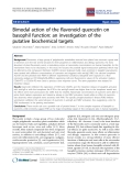 """Báo cáo y học: """"Bimodal action of the flavonoid quercetin on basophil function: an investigation of the putative biochemical targets"""""""