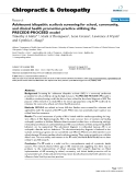 """Báo cáo y học: """"Adolescent idiopathic scoliosis screening for school, community, and clinical health promotion practice utilizing the PRECEDE-PROCEED model"""""""
