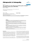 """Báo cáo y học: """"The establishment of the Chiropractic & Osteopathic College of Australasia in Queensland (1996–2002)"""""""