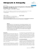 """Báo cáo y học: """"Successful management of hamstring injuries in Australian Rules footballers: two case reports"""""""