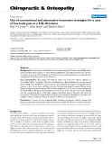 """Báo cáo y học: """" Use of conventional and alternative treatment strategies for a case of low back pain in a F/A-18 aviator"""""""