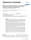 """Báo cáo y học: """"Physical injury assessment of male versus female chiropractic students when learning and performing various adjustive techniques: a preliminary investigative study"""""""