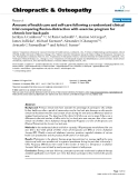 """Báo cáo y học: """"Amount of health care and self-care following a randomized clinical trial comparing flexion-distraction with exercise program for chronic low back pain"""""""