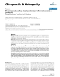 """Báo cáo y học: """"Do chiropractic college faculty understand informed consent: a pilot study"""""""
