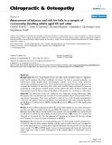 """Báo cáo y học: """"Assessment of balance and risk for falls in a sample of community-dwelling adults aged 65 and older"""""""