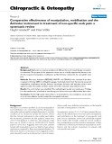 """Báo cáo y học: """"Comparative effectiveness of manipulation, mobilisation and the Activator instrument in treatment of non-specific neck pain: a systematic review"""""""