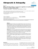 """Báo cáo y học: """" Effects of body position on autonomic regulation of cardiovascular function in young, healthy adults"""""""