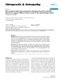 """Báo cáo y học: """" Non-surgical spinal decompression therapy: does the scientific literature support efficacy claims made in the advertising media"""""""