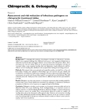 """Báo cáo y học: """"Assessment and risk reduction of infectious pathogens on chiropractic treatment tables"""""""