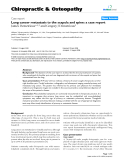 """Báo cáo y học: """"Lung cancer metastasis to the scapula and spine: a case report"""""""