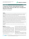 """Báo cáo y học: """"Comparison between data obtained through real-time data capture by SMS and a retrospective telephone interview"""""""