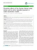 "Báo cáo y học: ""Preventive effects of Flos Perariae (Gehua) water extract and its active ingredient puerarin in rodent alcoholism models"""
