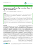 """Báo cáo y học: """"Neuroprotective effects of ginsenosides Rh1 and Rg2 on neuronal cells"""""""