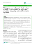 """Báo cáo y học: """"Misdiagnosis and undiagnosis due to pattern similarity in Chinese medicine: a stochastic simulation study using pattern differentiation algorithm"""""""