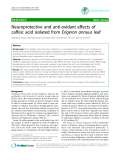 """Báo cáo y học: """"Neuroprotective and anti-oxidant effects of caffeic acid isolated from Erigeron annuus leaf"""""""