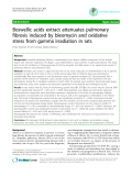 """Báo cáo y học: """"Boswellic acids extract attenuates pulmonary fibrosis induced by bleomycin and oxidative stress from gamma irradiation in rats"""""""