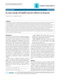 """Báo cáo y học: """" A case study of health sector reform in Kosovo"""""""