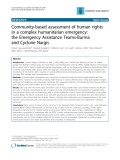 """Báo cáo y học: """"Community-based assessment of human rights in a complex humanitarian emergency: the Emergency Assistance Teams-Burma and Cyclone Nargis"""""""