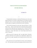 MỘT SỐ VẤN ĐỀ XUNG QUANH PHẠM TRÙ CHỦ NGHĨA HIỆN ĐẠI